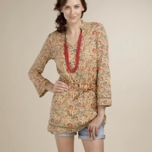 John Robshaw for Lucky Mustard Floral Tunic Dress